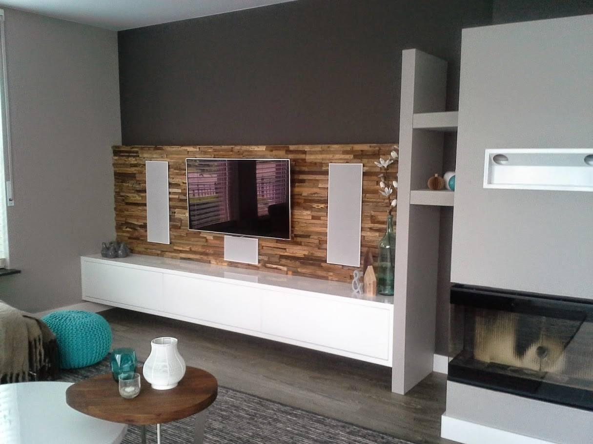 Hedendaags Riant TV meubel met achterwand. | GJ-73